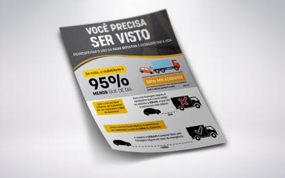 OBSERVATÓRIO E DERS ALERTAM MOTORISTAS DE CAMINHÕES SOBRE FAIXAS REFLETIVAS