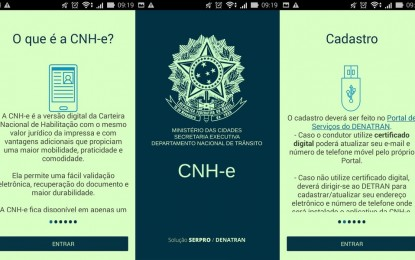 Estreia do app da CNH digital é adiada para a 1ª quinzena de outubro