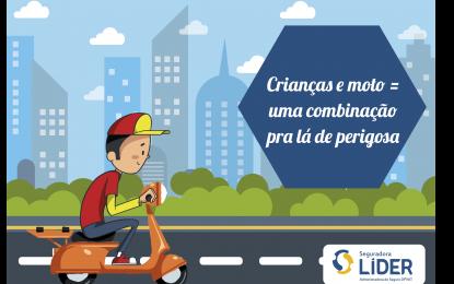 Projeto de Lei quer aumentar idade mínima para crianças em moto