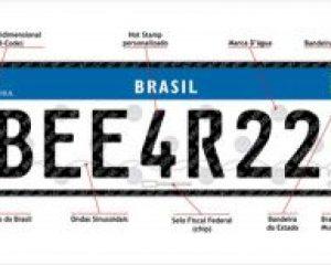 Brasil publica implantação do novo modelo de Placas Mercosul