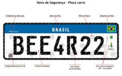 Denatran: placas do Mercosul serão obrigatórias apenas para veículos novos e transferidos