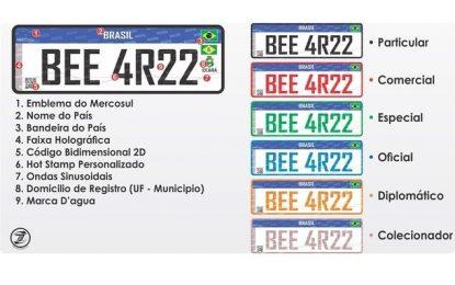 Placas do Mercosul não serão obrigatórias em todos os carros