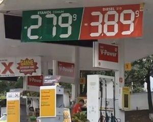 Preços dos combustíveis confundem consumidor em postos